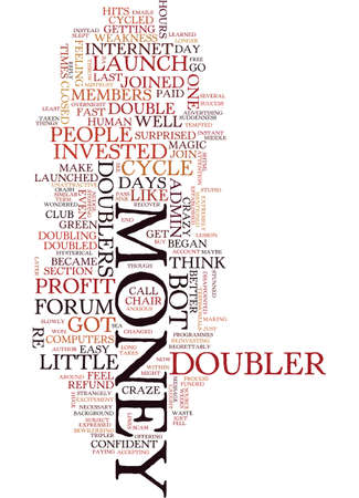 sported: MONEY DOUBLER MADNESS Text Background Word Cloud Concept