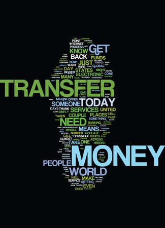 fortunately: MONEYTRANSFER Text Background Word Cloud Concept Illustration