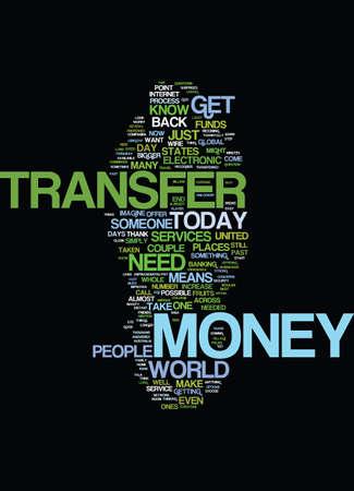 MONEYTRANSFER Text Background Word Cloud Concept Ilustração