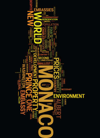 snapped: MONACO GETS ACTIVE AND OPENS NEW US EMBASSY Text Background Word Cloud Concept