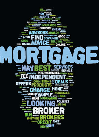 MORTGAGE BROKERS BEST SERVICE TIPS Text Background Word Cloud Concept