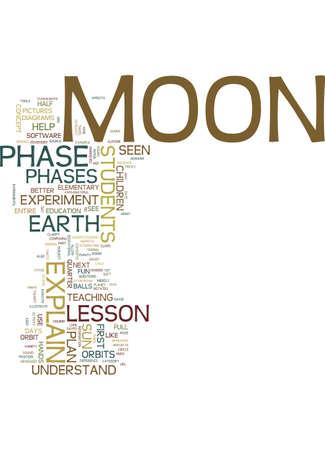 小学校低学年学生テキスト背景単語雲概念のムーン フェーズ レッスン ・ プラン