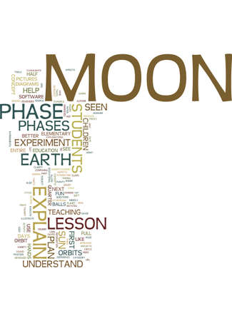 MOON PHASE LESSON PLAN FOR ELEMENTARY AGE STUDENTS Text Background Word Cloud Concept