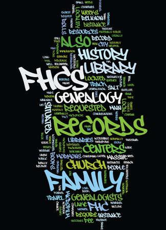 MORMON GENEALOGY Text Background Word Cloud Concept