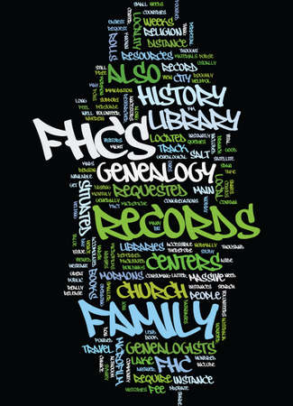 MORMON GENEALOGY Text Background Word Cloud Concept