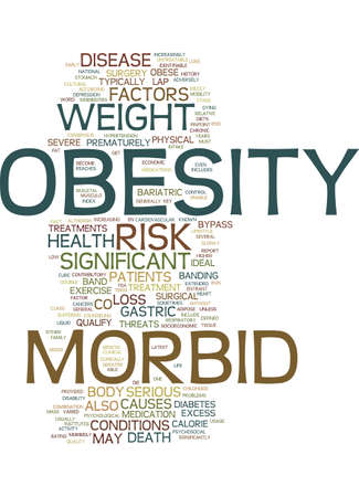 MORBID OBESITY Text Background Word Cloud Concept