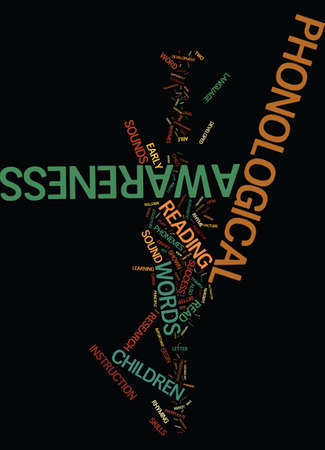 TEACH YOUR CHILD PHONOLOGICAL AWARENESS Text Background Word Cloud Concept