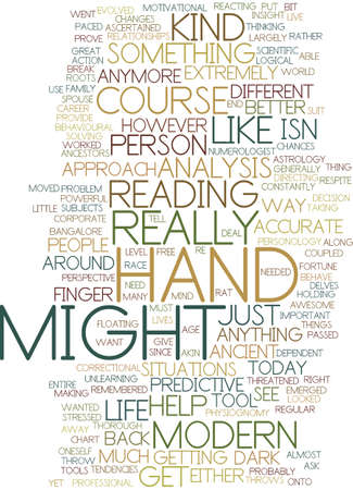 MODERN HAND ANALYSIS WHAT S IN IT FOR US Text Background Word Cloud Concept