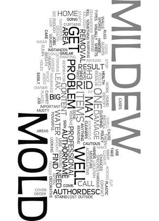 MOLD AND MILDEW REMOVAL Text Background Word Cloud Concept