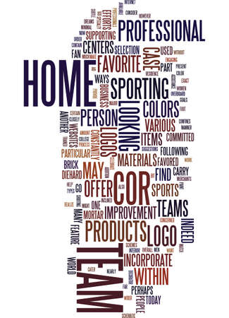 TEAM LOGOS AS PART OF YOUR HOME DCOR Text Background Word Cloud Concept