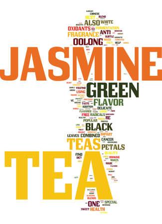 TEA WHAT IS JASMINE TEA Text Background Word Cloud Concept