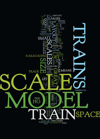 MODEL TRAIN SCALES Text Background Word Cloud Concept