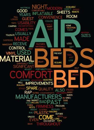 利便性と快適さテキスト背景単語クラウドの概念はのために建てられたモダンな空気ベッド  イラスト・ベクター素材