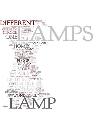 현대 램프 텍스트 배경 단어 구름 개념