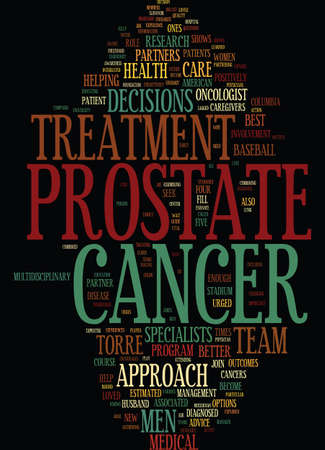 TEAM APPROACH URGED IN PROSTATE CANCER TREATMENT Text Background Word Cloud Concept