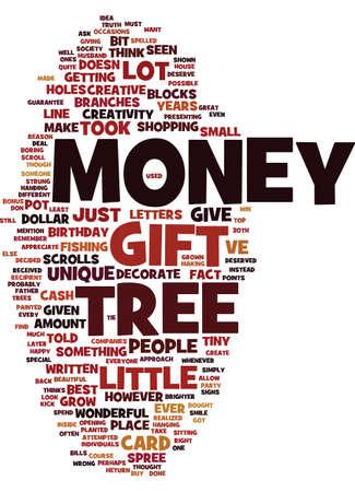quantity: MONEY TREE Text Background Word Cloud Concept