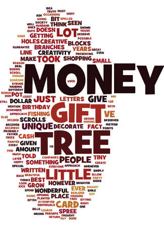 MONEY TREE Text Background Word Cloud Concept
