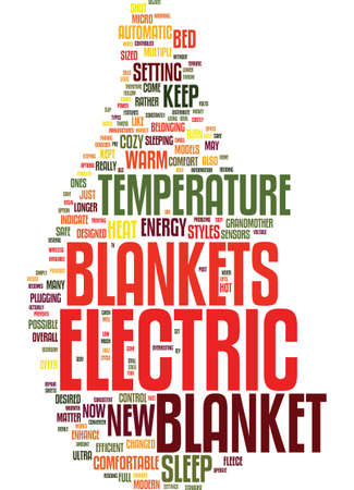terrific: MODERN ELECTRIC BLANKETS NEW STYLES OF ELECTRIC BLANKETS Text Background Word Cloud Concept Illustration