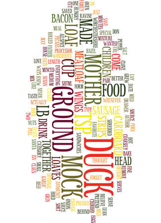 MOCK DUCK HAS COME TO US Text Background Word Cloud Concept