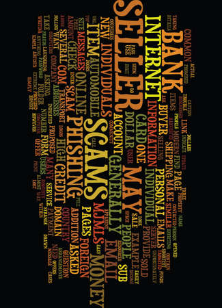 MODERN SCAMS ONLINE Text Background Word Cloud Concept