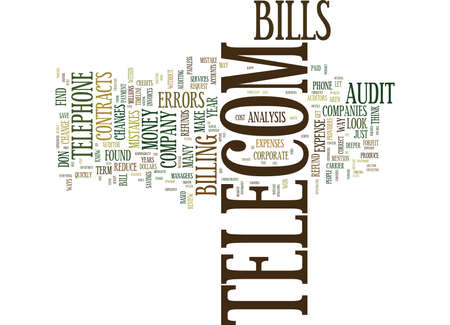 TELECOM CONTRACTS IS THIS WHERE THE MONEY IS Text Background Word Cloud Concept