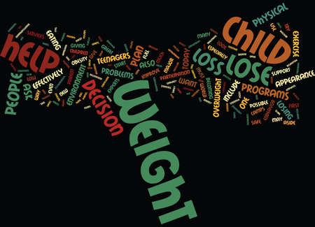 TEEN WEIGHT LOSS Text Background Word Cloud Concept Illustration