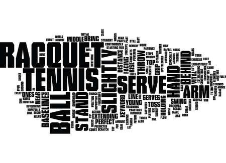 TENNIS SERVE Text Background Word Cloud Concept