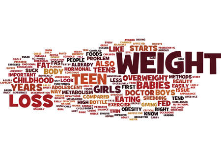 TEEN WEIGHT LOSS FACTS Text Background Word Cloud Concept