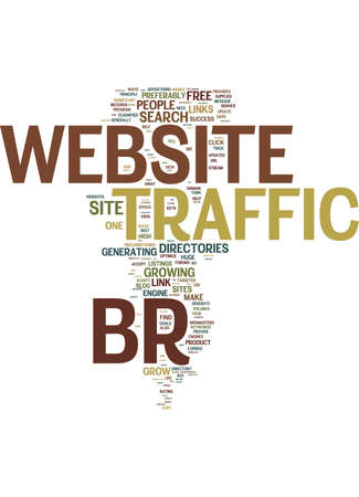 listings: TEN STEPS TO GROW WEBSITE TRAFFIC Text Background Word Cloud Concept Illustration