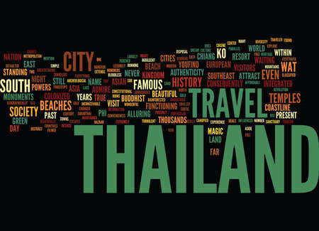 THAILAND IS THEIR LAND Text Background Word Cloud Concept