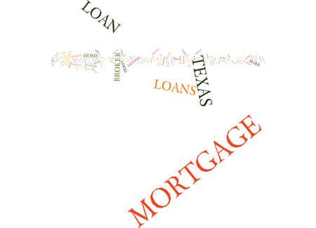 TEXAS MORTGAGE LOAN Text Background Word Cloud Concept Ilustração