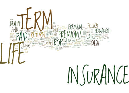TERM LIFE INSURANCE WITH NO EXAM Text Background Word Cloud Concept