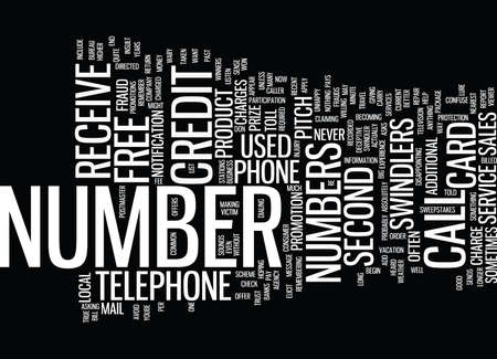 TELEPHONE NUMBER FRAUD Text Background Word Cloud Concept Illustration