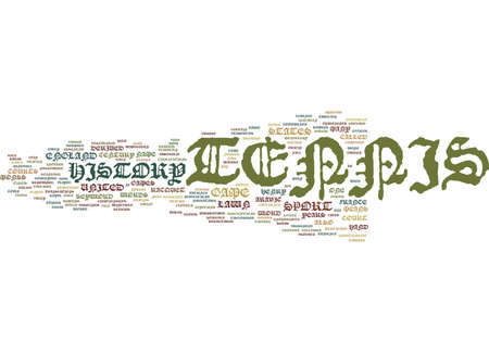 TENNIS HISTORY Text Background Word Cloud Concept