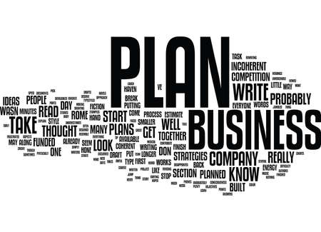 TEN TIPS TO JUMP START YOUR BUSINESS PLAN Text Background Word Cloud Concept