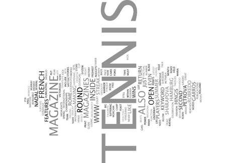 TENNIS MAGAZINE Text Background Word Cloud Concept