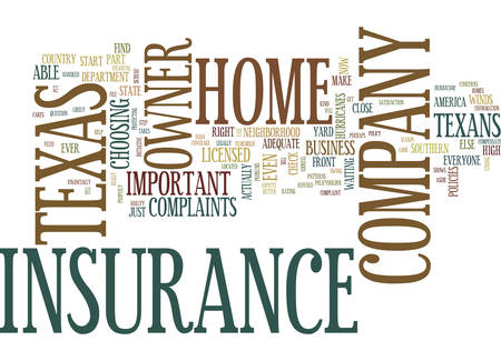 TEXAS HOME OWNER INSURANCE COMPANY Text Background Word Cloud Concept