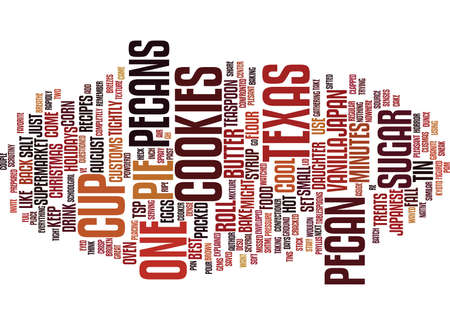 TEXAS PECAN TREATS Text Background Word Cloud Concept