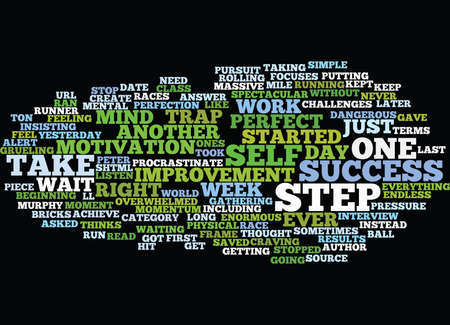 massive: THAT FIRST STEP TO MASSIVE SUCCESS Text Background Word Cloud Concept Illustration