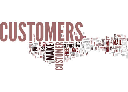 TEN WAYS TO IMPROVE YOUR CUSTOMER SERVICE Text Background Word Cloud Concept