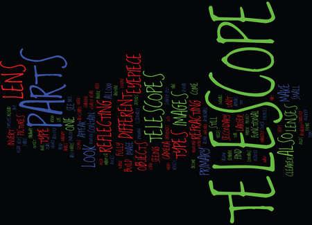 TELESCOPE PARTS Text Background Word Cloud Concept
