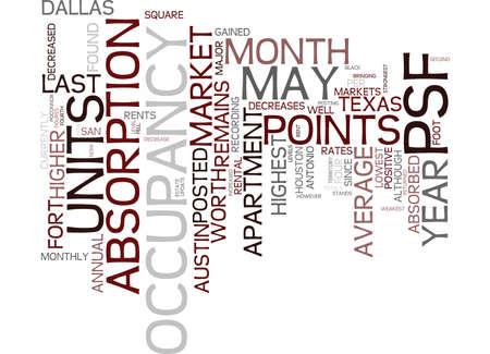 TEXAS APARTMENT MARKET Text Background Word Cloud Concept