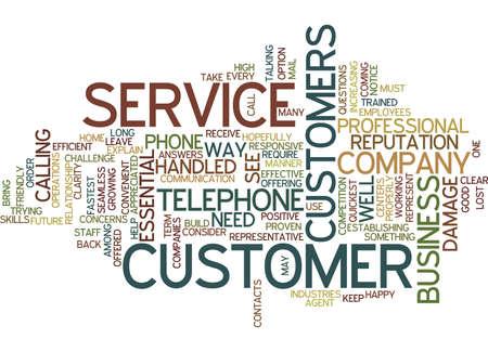 TELEPHONE AGENT CUSTOMER SERVICE Text Background Word Cloud Concept Illusztráció