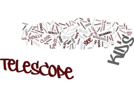 TELESCOPE FOR KIDS Text Background Word Cloud Concept Ilustração