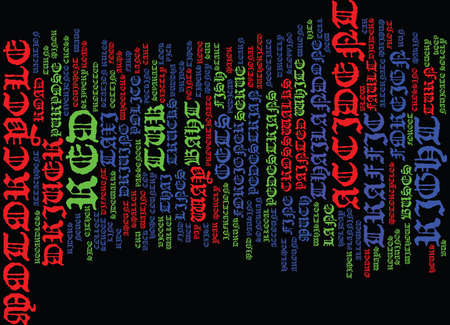 THAILAND RULES OF THE ROAD Text Background Word Cloud Concept