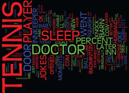TENNIS JOKES Text Background Word Cloud Concept