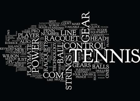 TENNIS GEAR Text Background Word Cloud Concept