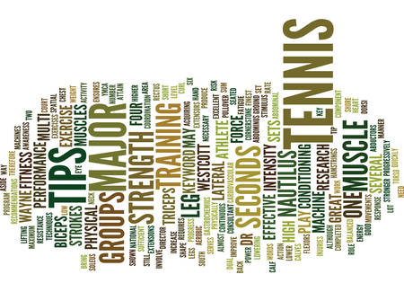 TENNIS TIPS Text Background Word Cloud Concept