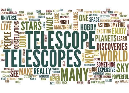 望遠鏡本文背景単語雲概念
