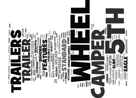axles: TH WHEEL CAMPER TRAILERS Text Background Word Cloud Concept Illustration